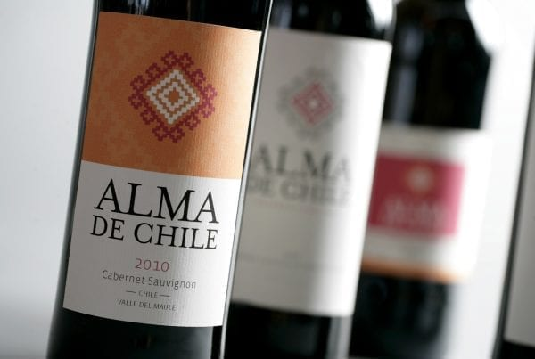 Alma de Chile label design