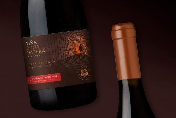 label printer Doña Javiera wine