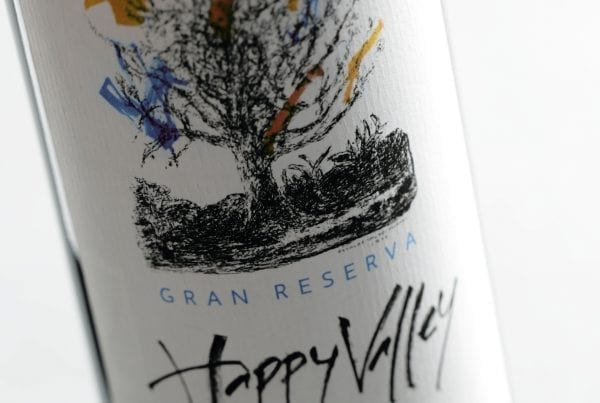Wine label design Happy Valley