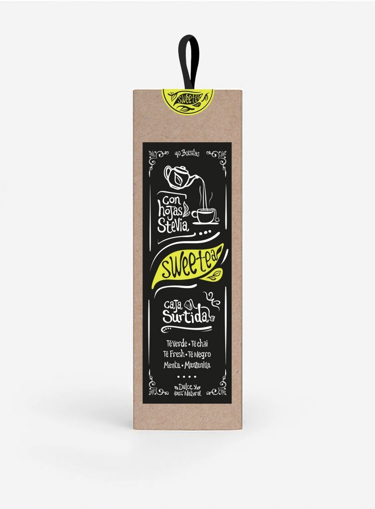 diseño de packaging para Sweetea