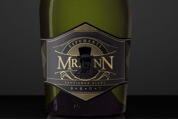 Mr NN wine label champagne